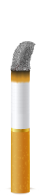 drawing of a cig with 13.5% left